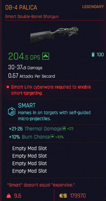 легендарное и культовое оружие Cyberpunk 2077