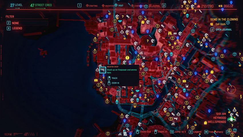 торговцы орижием Cyberpunk 2077 на карте