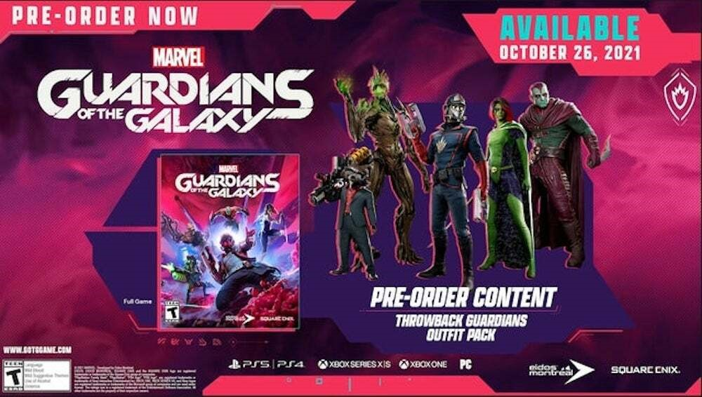 предзаказ Guardians of the Galaxy