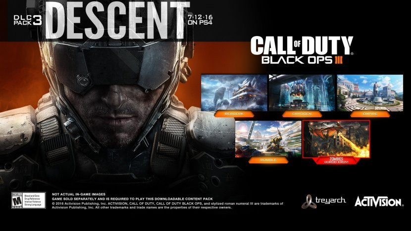 Call of Duty: Black Ops III: релиз дополнения «Descent» и новый трейлер