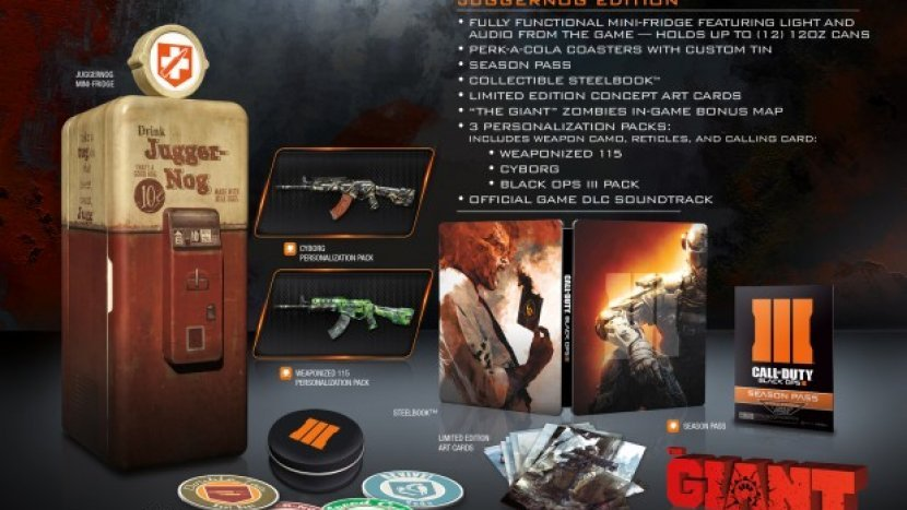 Call of Duty: Black Ops 3 — Juggernog Edition появится холодильник