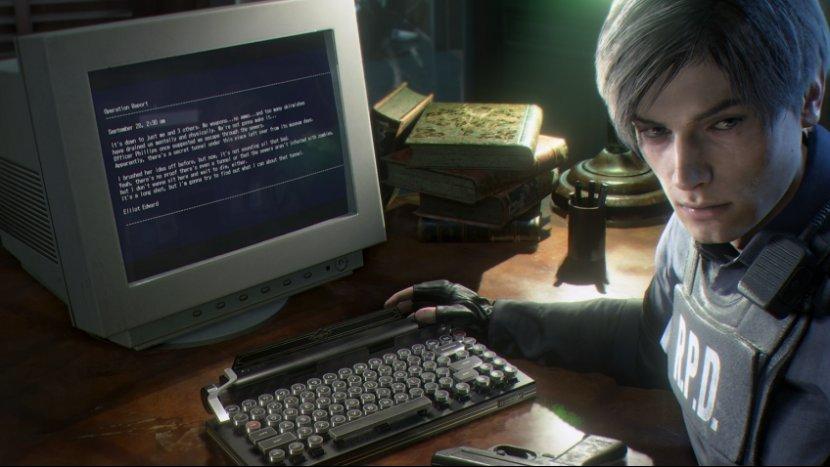 Пишущая машинка-клавиатура – новый коллекционный предмет для Resident Evil 2: Remake