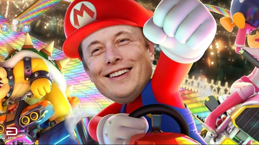 Машины Tesla могли бы дополняться игрой Mario Kart, но Илону Маску не удалось договориться о получении прав на игру Nintendo